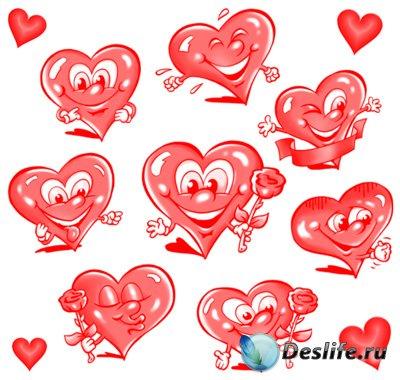 Кисти для фотошопа - Сердечки I Love you