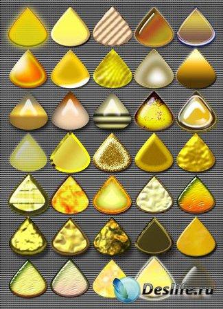 Стили для фотошопа - Янтарь и Золото