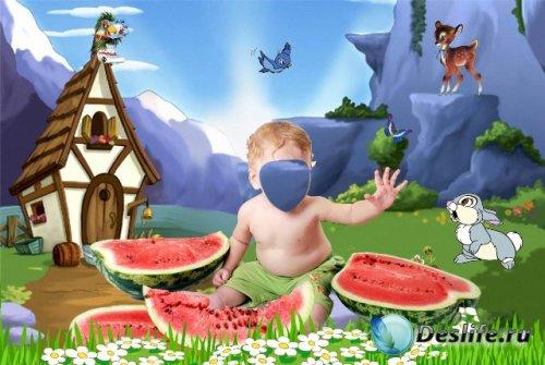 Костюм для фотошопа - Малыш с арбузами