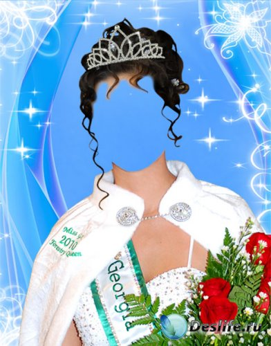 Костюм для фотошопа - Мисс красоты 2010