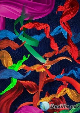 Клипарт - Шелковые ленты