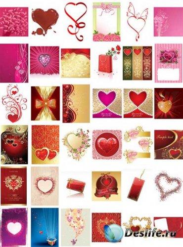 Мега коллекция векторных изображений для влюбленных