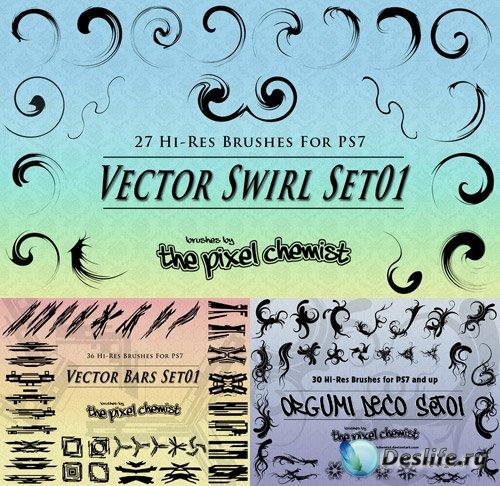 Три набора полезных векторных кистей для фотошопа