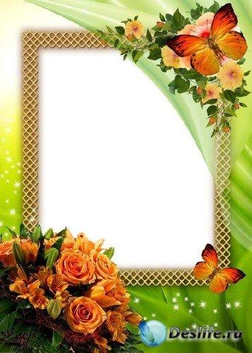 Рамка для фотошоп – Цветочный аромат