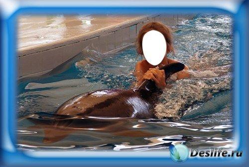 Костюм для фотошопа - Девочка и дельфин