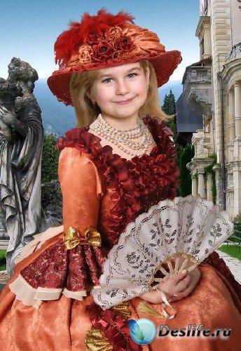 Костюм для фотошопа – Девочка с веером