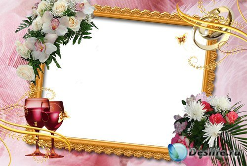 Рамка для фотошопа - Свадебная