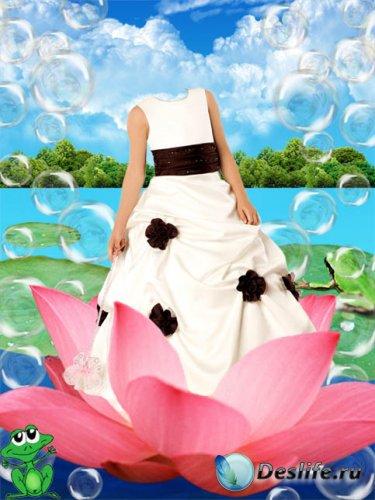 Костюм для фотошопа – Дюймовочка на цветочке