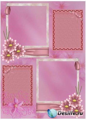Рамка для фотошопа - Цветочная