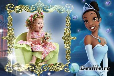 Рамка для фотошопа - Принцесса и лягушка