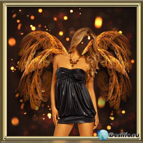 Костюм для фотошопа - Золотой ангел