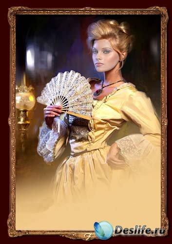 Костюм для фотошопа - Дама с веером