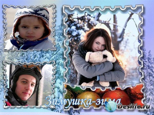 Рамка для фотошоп – Зимушка-Зима