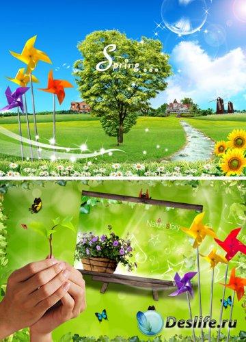 Сказочная весна - PSD исходники