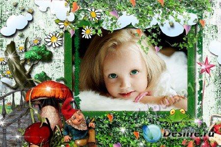 Рамка для Photoshop - Волшебная полянка