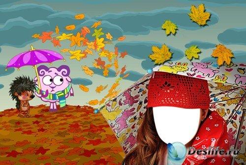 Костюм для фотошопа - Осенний для девочки