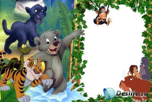 Рамка для фотошопа - Маугли и его друзья