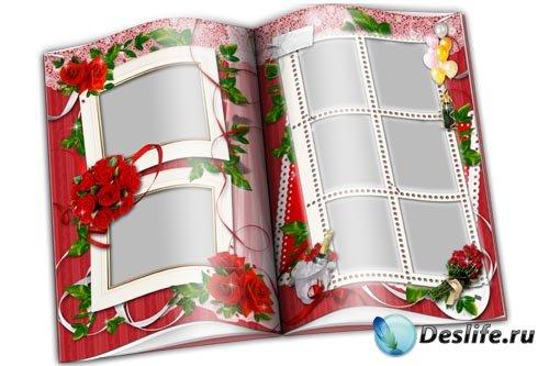 Парные фоторамки «Красные розы»