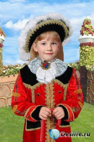Костюм для фотошопа – Девочка в камзоле