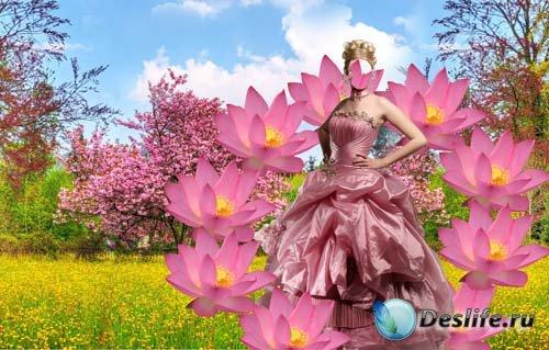 Костюм для фотошопа - В окружение цветов