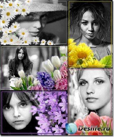 Рамки для Photoshop - Цветные мечты
