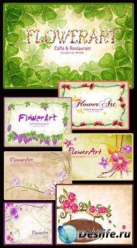 Flowers Art PSD 2 - PSD исходники