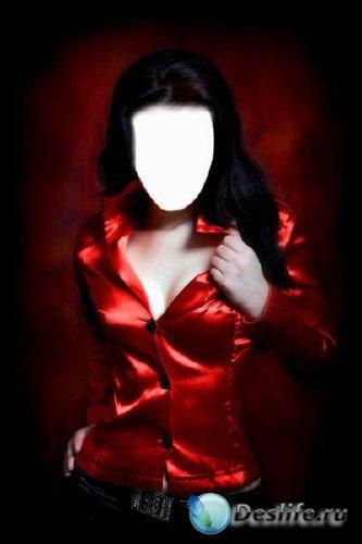 Костюм для фотошоп – Девушка в красном