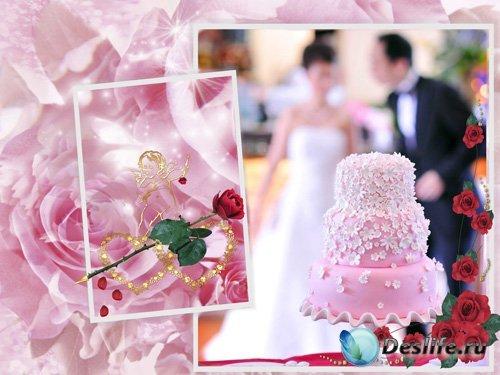 Свадебный торт - Рамочка для Фотошопа