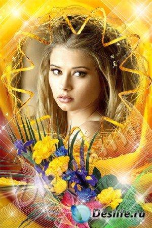 Рамка для Photoshop - Желтые розы