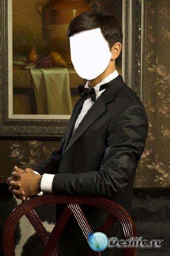 Костюм для фотошопа – Мужской портрет в интерьере