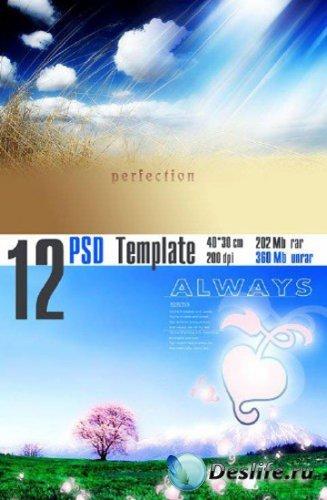 Beautiful PSD template
