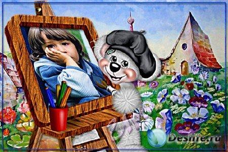 Детская рамка для Photoshop - Художник