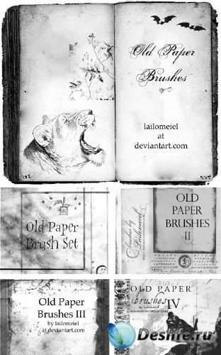 Кисти - Старая бумага (Old Paper Brush Pack)