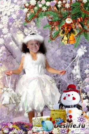 Детский костюм для Фотошопа - Маленькая снежинка