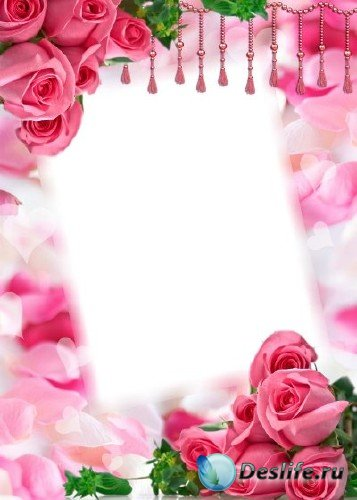 Рамка для фотошоп – Розы