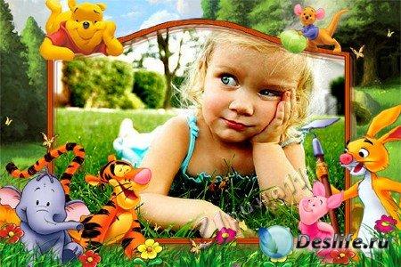 Детская рамка для Photoshop - Винни-Пух