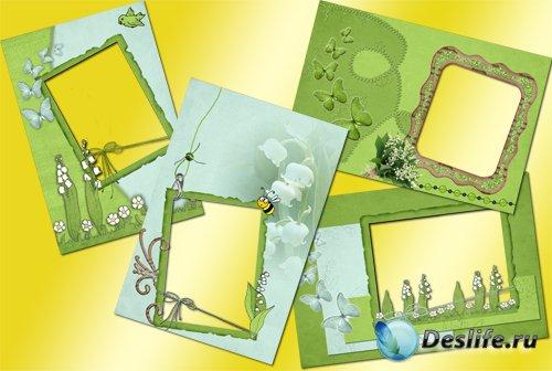 Рамки для Фотошопа - Ландыши