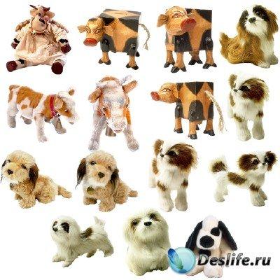 Клипарт - Игрушки – собачки, телята в PNG