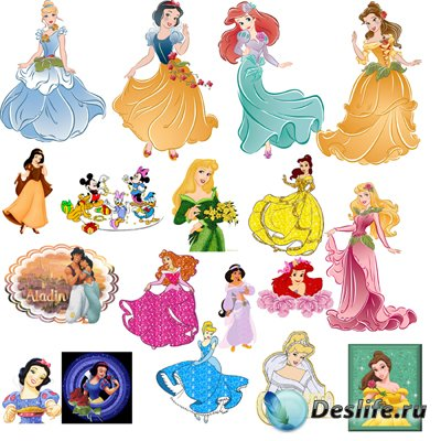 Клипарт  – Диснеевские принцессы