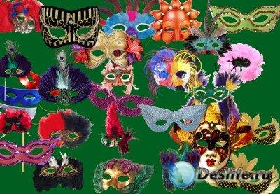 Карнавальные маски в PSD