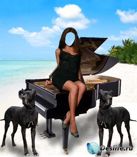 Костюм для фото - Девушка на рояле