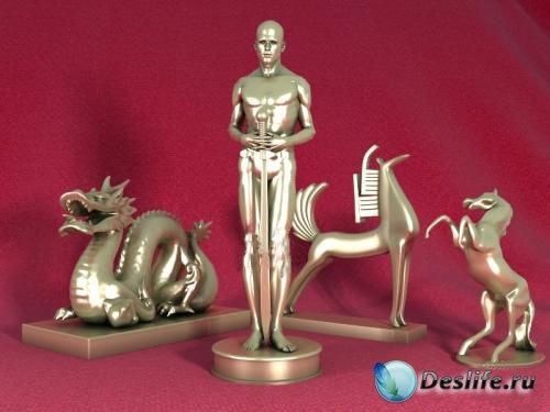 3D Модели статуэток для интерьера