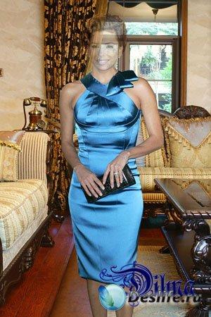 Костюм для Фотошопа - Женщина в голубом