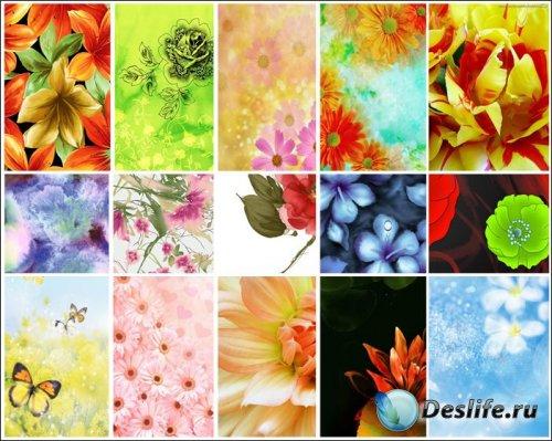 Набор цветочных текстур для дизайна