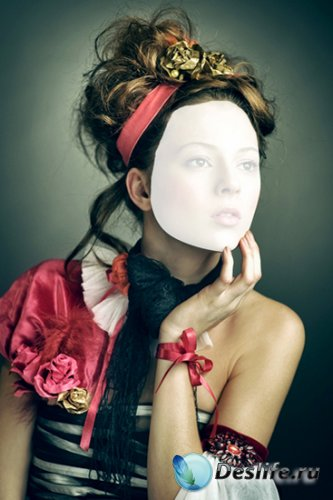 Женский костюм для фотошопа - Леди 2