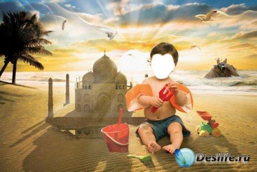 Детский костюм для фотошопа - Малыш на пляже