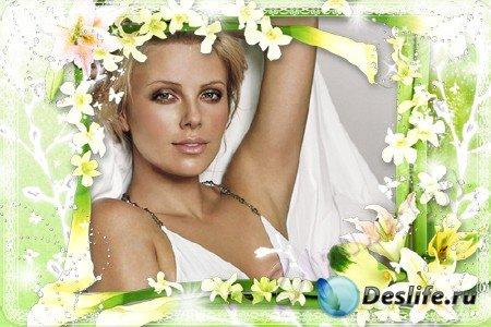 Рамка для Photoshop - Белые лилии