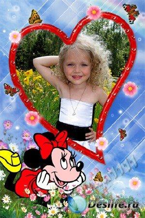 Детская рамка для фотошоп - Подружки
