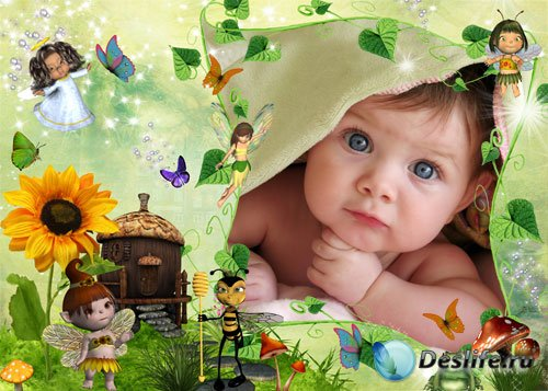 Детская рамка для Photoshop – Волшебная страна