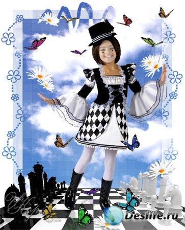 Детский костюм для Фотошопа - Шахматная королева